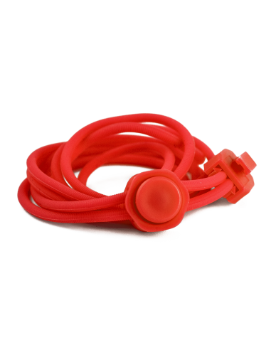 Skosnöre - Silikon med dragsko, Röd...